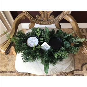 Christmas Candle Natural Holida Winter Centerpiece